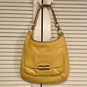 Coach Kirsten Buttery Soft Yellow Leather Purse.